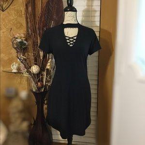 Dresses & Skirts - NEW Black Short Sleeve Tunic T-shirt Dress